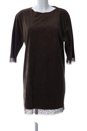 Zara Basic Kurzarmkleid braun Casual-Look