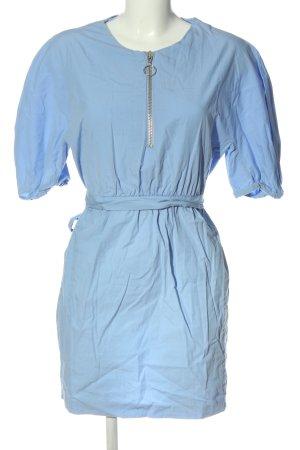 Zara Basic Kurzarmkleid blau Casual-Look