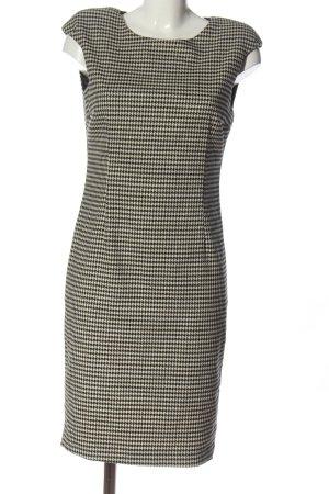 Zara Basic Kurzarmkleid creme-schwarz Allover-Druck Casual-Look