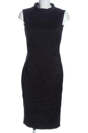 Zara Basic Kurzarmkleid schwarz Business-Look