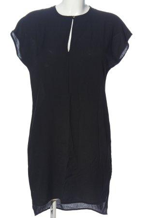 Zara Basic Kurzarmkleid schwarz Casual-Look