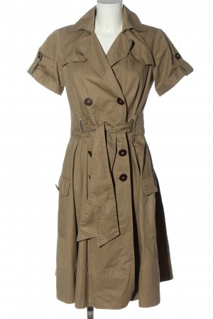 Zara Basic Geklede jurk bruin casual uitstraling