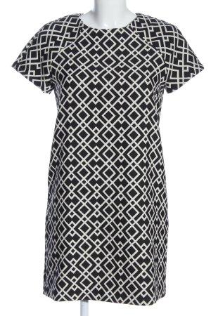 Zara Basic Kurzarmkleid schwarz-weiß Allover-Druck Casual-Look