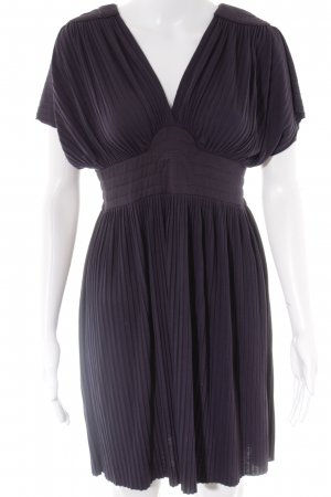 Zara Basic Kurzarmkleid dunkelviolett Casual-Look