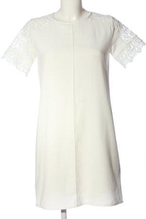 Zara Basic Kurzarmkleid weiß Elegant