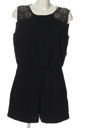 Zara Basic Kurzer Jumpsuit schwarz Casual-Look