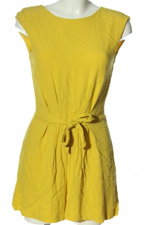 Zara Basic Kurzer Jumpsuit blassgelb Casual-Look