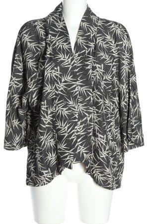 Zara Basic Kurzjacke schwarz-weiß Allover-Druck Casual-Look
