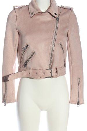 Zara Basic Kurzjacke creme Casual-Look