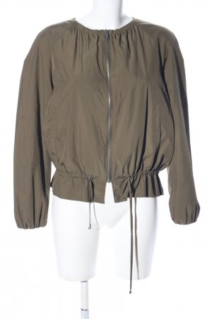 Zara Basic Kurzjacke khaki Casual-Look