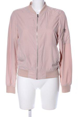 Zara Basic Kurzjacke pink Casual-Look