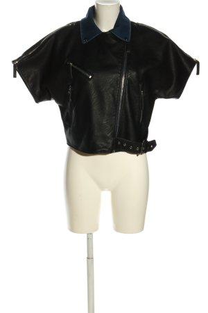 Zara Basic Kurzjacke schwarz Casual-Look