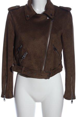 Zara Basic Kurzjacke braun Casual-Look