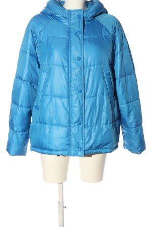 Zara Basic Kurzjacke blau Steppmuster Casual-Look