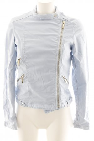 Zara Basic Kurzjacke babyblau Casual-Look