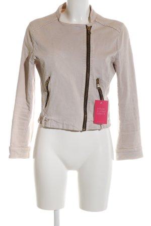 Zara Basic Kurzjacke wollweiß Casual-Look