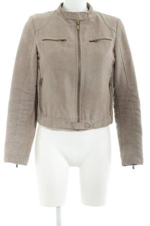 Zara Basic Kurzjacke graubraun Casual-Look