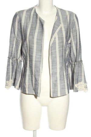 Zara Basic Kurzjacke hellgrau-weiß Streifenmuster Casual-Look