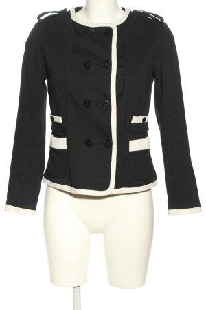 Zara Basic Kurzjacke schwarz-wollweiß Business-Look