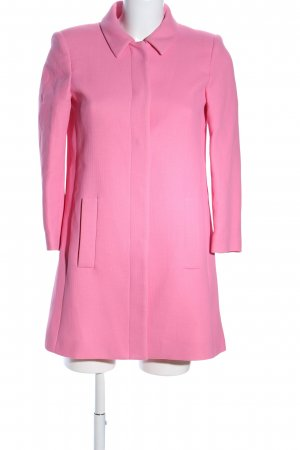 Zara Basic Kurzmantel pink Business-Look