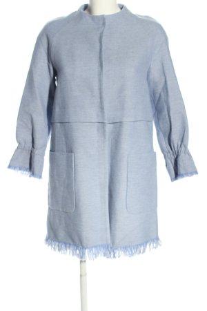 Zara Basic Kurzmantel blau meliert Casual-Look