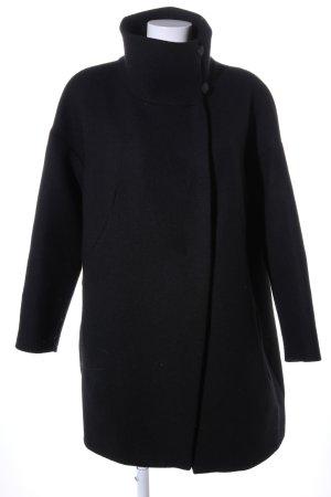 Zara Basic Cappotto corto nero stile professionale