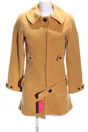 Zara Basic Short Coat light orange casual look