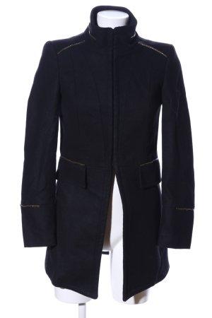 Zara Basic Kurzmantel schwarz Elegant