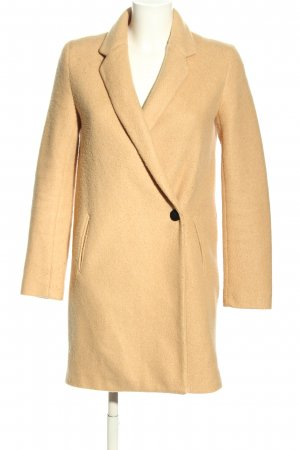 Zara Basic Kurzmantel blassgelb Elegant