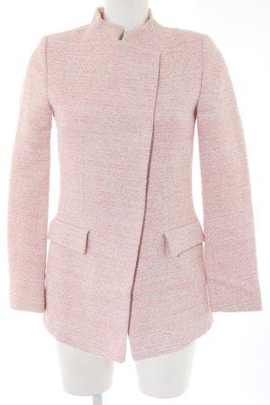 Zara Basic Kurzmantel pink-wollweiß meliert Business-Look