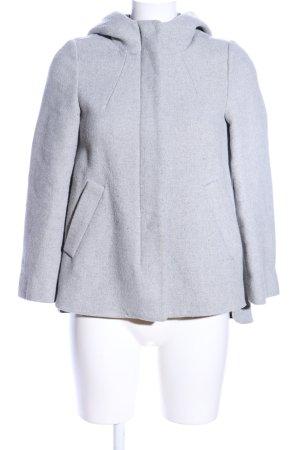 Zara Basic Manteau court gris clair moucheté style décontracté