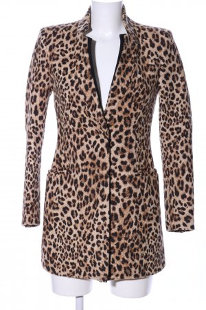 Zara Basic Abrigo corto estampado de leopardo estilo «business»