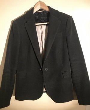 Zara Basic L 38/40 Jacket Velvet Black Schwarz