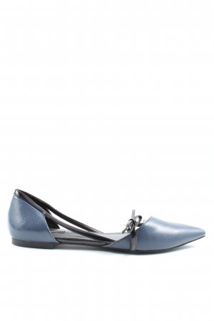 Zara Basic Patent Leather Ballerinas blue-black casual look