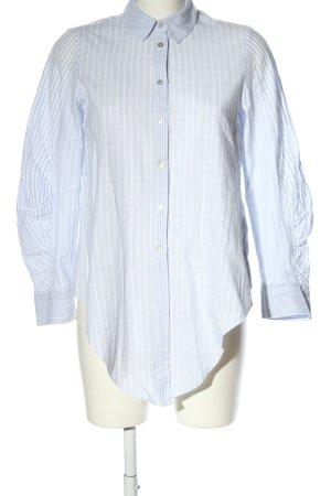 Zara Basic Langarm-Bluse blau-weiß Streifenmuster Business-Look