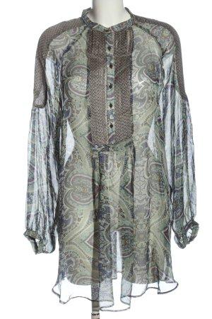 Zara Basic Langarm-Bluse abstraktes Muster klassischer Stil
