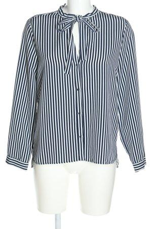 Zara Basic Langarm-Bluse schwarz-weiß Streifenmuster Business-Look