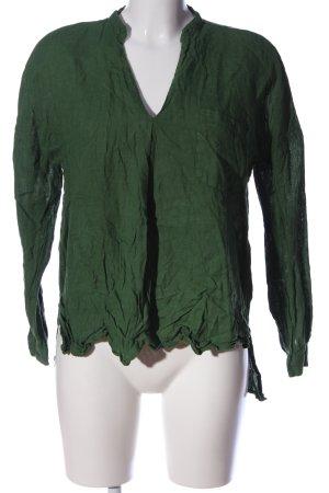 Zara Basic Langarm-Bluse khaki Casual-Look