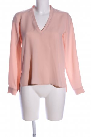 Zara Basic Langarm-Bluse nude Business-Look