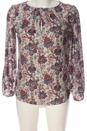 Zara Basic Langarm-Bluse Allover-Druck Business-Look