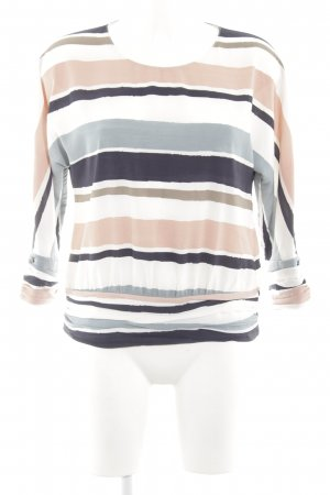 Zara Basic Langarm-Bluse Streifenmuster Business-Look