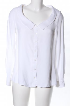 Zara Basic Langarm-Bluse weiß Business-Look