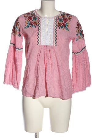 Zara Basic Langarm-Bluse Blumenmuster Elegant