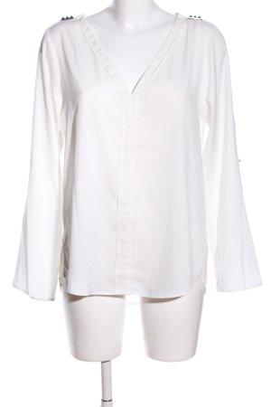 Zara Basic Langarm-Bluse wollweiß Elegant