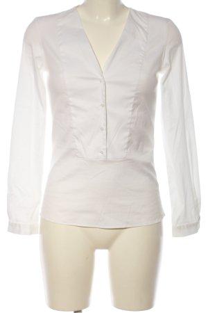 Zara Basic Langarm-Bluse weiß Casual-Look