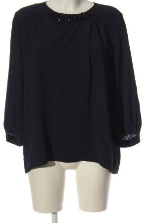 Zara Basic Langarm-Bluse blau Business-Look