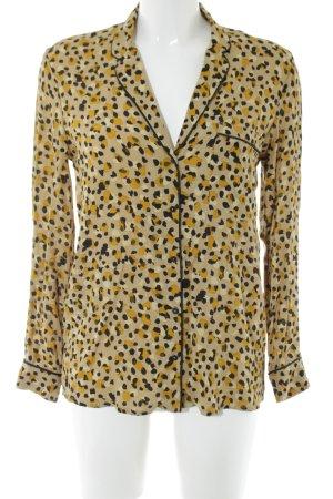 Zara Basic Langarm-Bluse Allover-Druck extravaganter Stil