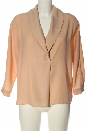 Zara Basic Langarm-Bluse nude Business-Look