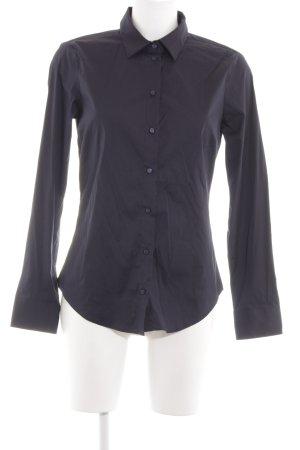 Zara Basic Langarm-Bluse blau Casual-Look