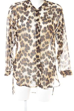Zara Basic Langarm-Bluse Animalmuster Casual-Look